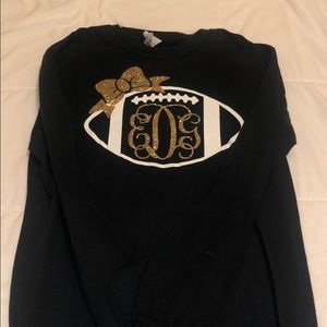 Black and gold football long sleeve t-shirt!